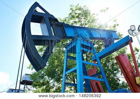 The a oil pump jack the closeup