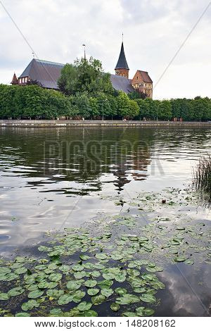 View Of Cathedral From River In Kaliningrad