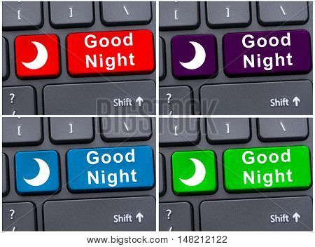 Computer Keyboard With Good Night Button