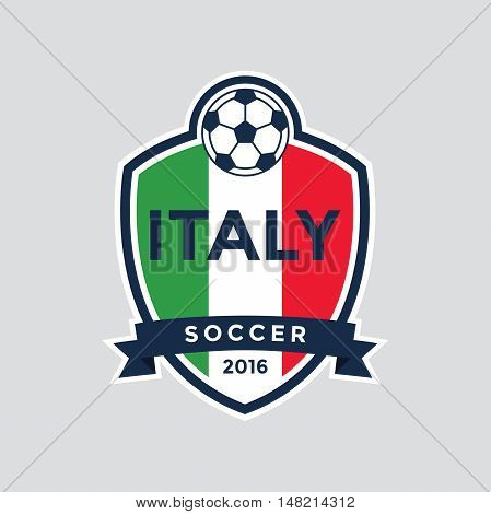 Italy championship soccer crest badge. Vector illustration