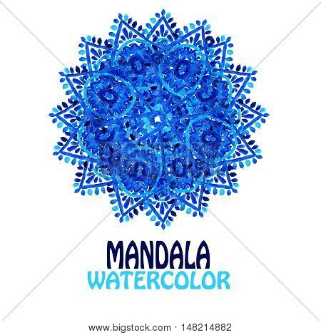 Blue Watercolor Mandala