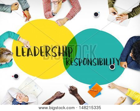 Leadership Goals Ideas Motivation Circles Concept