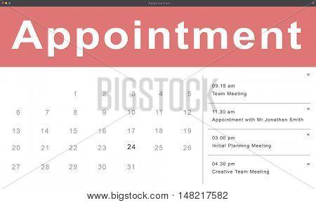 Agenda Appointment Schedule Calendar Reminder Concept