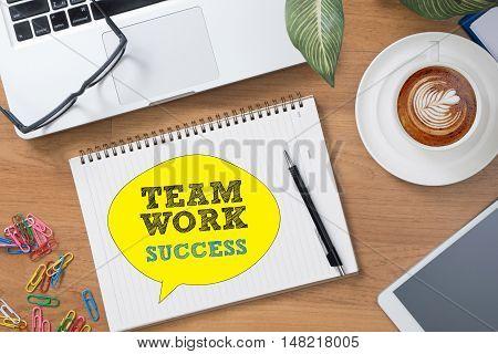 TEAMWORK SUCCESS CONCEPT businessman working businessman working