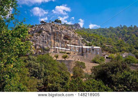 Pustinja Blaca hermitage on the rock island of Brac Dalmatia Croatia