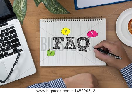 Faq Concept ( Frequently Asked Questions )