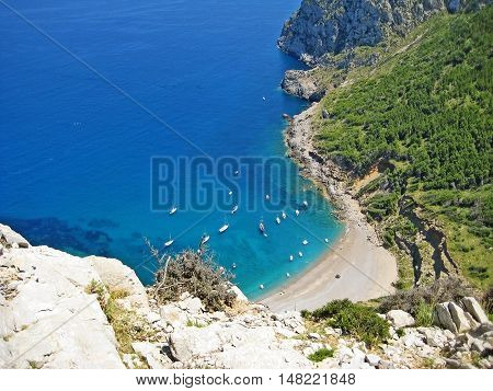 Coll Baix, Famous Bay In The North Of Majorca