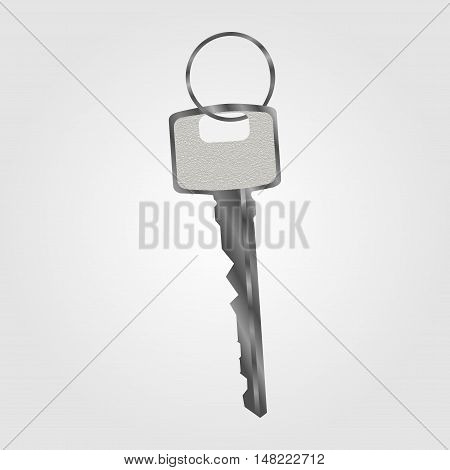 Abstract gray keys on whose either: house, car, apartment.