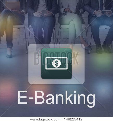 Electronic E-Banking Investment Economics Concept
