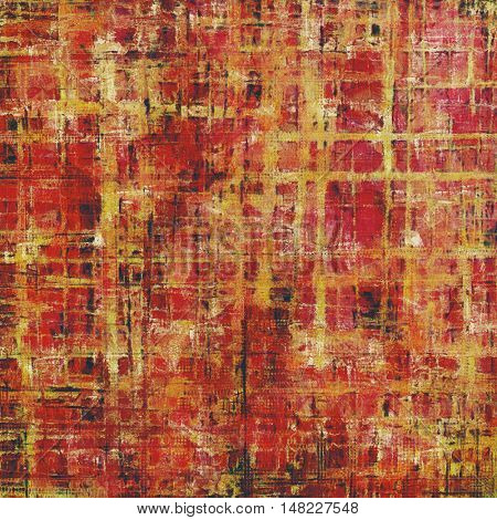 Oldest vintage background in grunge style. Ancient texture with different color patterns: yellow (beige); red (orange); black; pink