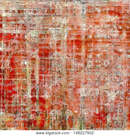 Grunge texture in ancient style, aged background with creative decor and different color patterns: yellow (beige); brown; gray; red (orange); pink