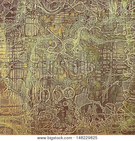 Art vintage texture for background in grunge style. With different color patterns: yellow (beige); brown; gray; green