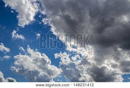 Sky, blue sky, blue sky and clouds, beautiful blue autumn sky, blue sky and white clouds