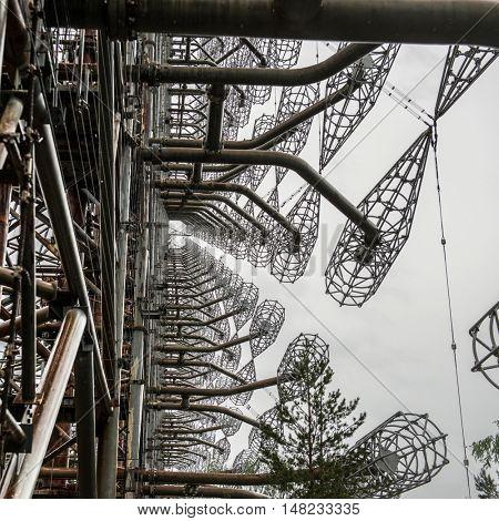 Duga-3 Soviet radar system in abandoned Chernobyl