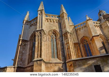 View on the chapel of Tarragona cathedral in sun light, Spain