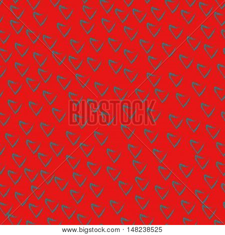 Heart chaotic seamless pattern. Fashion graphic background design. Modern stylish abstract colorful texture. Template for prints textiles wrapping wallpaper website etc. Stock VECTOR illustration