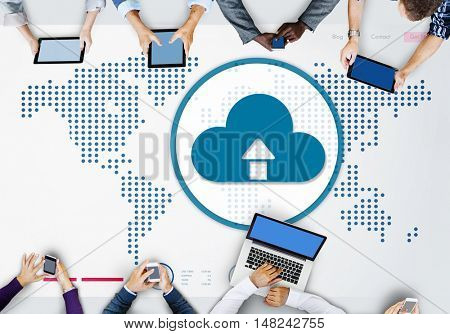 Cloud Computing Globalization Connection Technology Concept