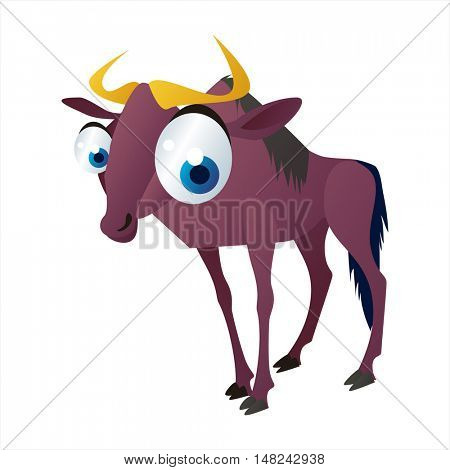 vector cool image of animal. Funny happy