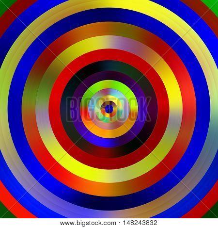 Multicolored graduated stripes circles illustration