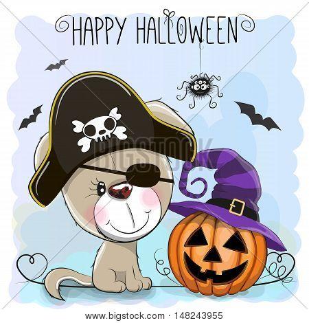 Halloween Illustration Of Cartoon Puppy