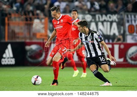 Uefa Europa League Match Between Paok Vs Acf Fiorentina