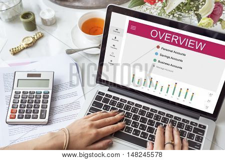 Overview Personal Accounts Money Concept