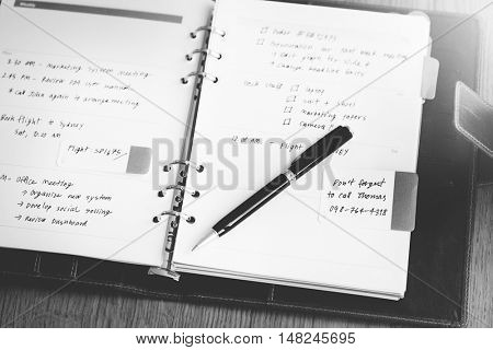 Appointment Schedule Diary List Notepad Concept