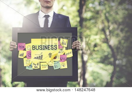 Business Plan Marketing Strategy Growth Success Concept