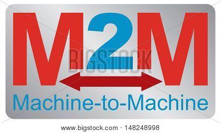 Machine to machine - communication concept. Vector illustration.