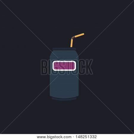 Soda Color vector icon on dark background