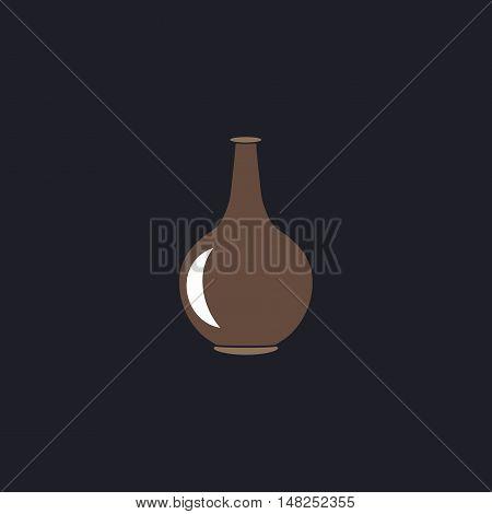 Amphora Color vector icon on dark background