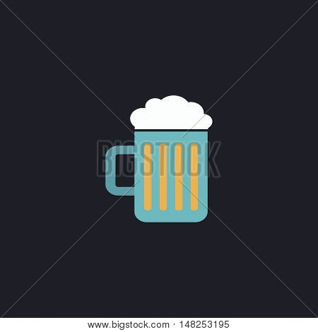 Beer Color vector icon on dark background