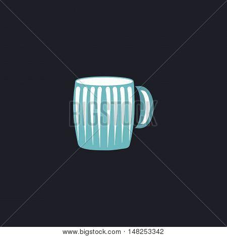 beer mug Color vector icon on dark background