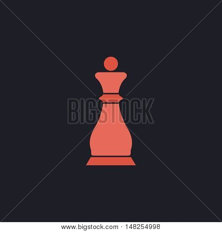 Chess queen Color vector icon on dark background