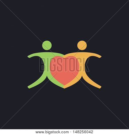 Pair Color vector icon on dark background