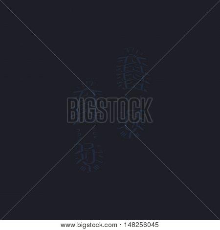 imprints Color vector icon on dark background