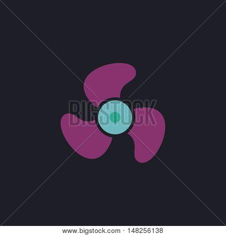 Propeller Color vector icon on dark background