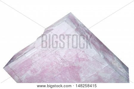 Gypsum is a soft sulfate mineral composed of calcium sulfate dihydrate on white  background