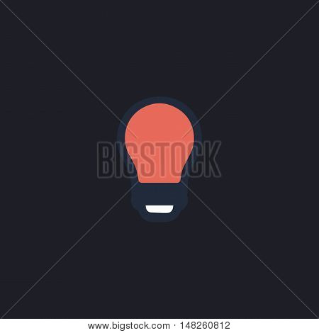 Led Bulb Color vector icon on dark background