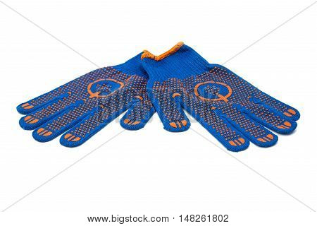 cloth protective gloves isolated on white background