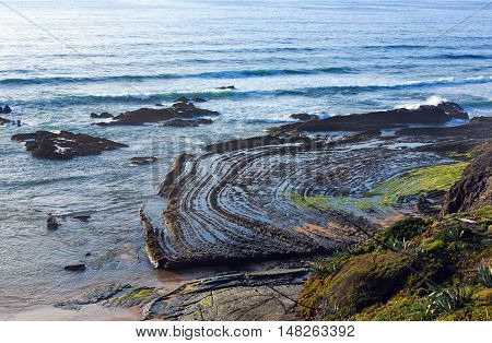 Natural Amphitheater On Beach (algarve, Portugal).