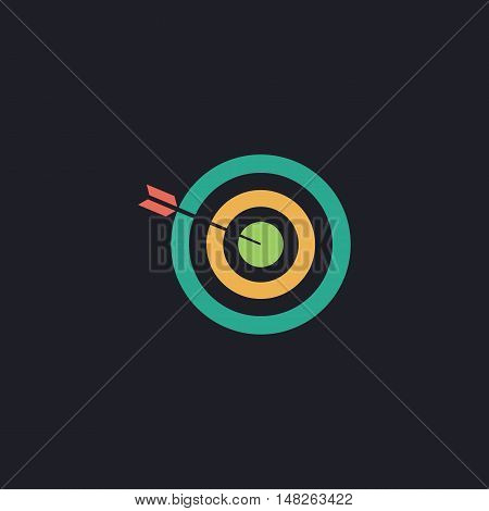 bullseye Color vector icon on dark background