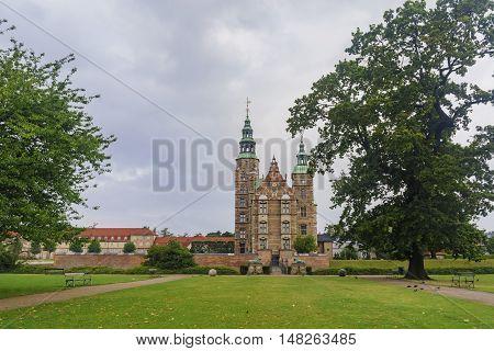 Traveling In The Famous Rosenborg Slot, Copenhagen