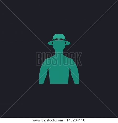 macho Color vector icon on dark background