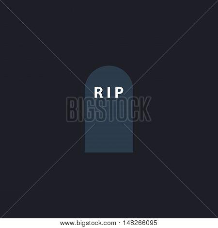 Grave Color vector icon on dark background