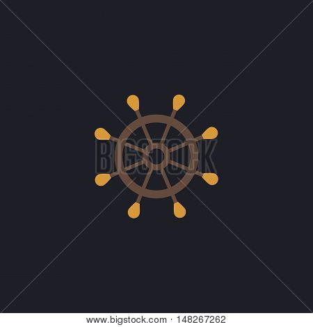 helm Color vector icon on dark background