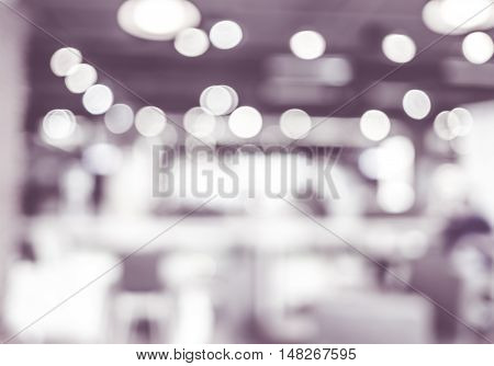 Blurred Background : Monotone Filter Coffee Shop Blur Background With Bokeh