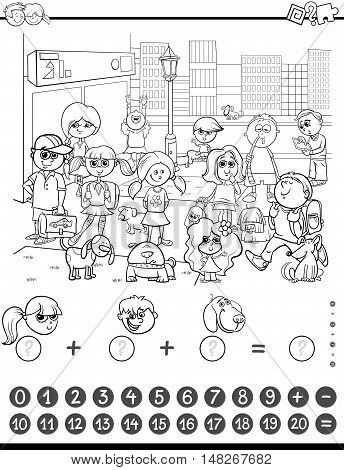 Maths Game Coloring Book