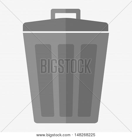 Garbage trash bin icon isolated. Vector illustration. Flat style