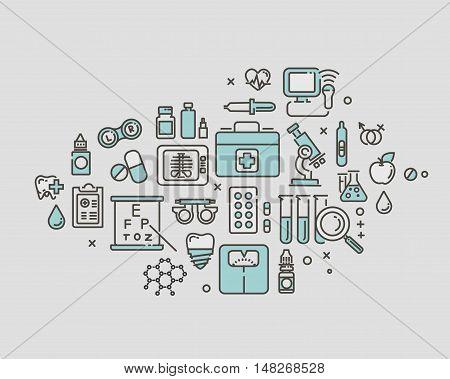 flat vector medical icon. medicine, science, dentistry